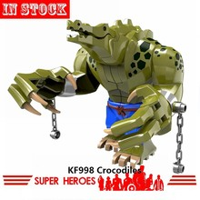 Locking Suicide Squad Joker Harley Super Heroes Crocodile Killer Batman DC Movie Figures KF998 Blocks Toys For Children Lockings(China)