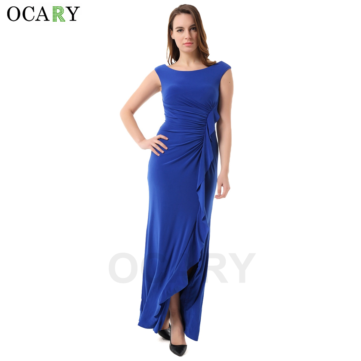 Buy Cheap OCARY Brand Quality Fashion Ruffles Dress Elegant Women Boho Maxi Party Dress Casual 2016 Summer Dress Plus Size 2XL Vestidos