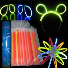 4000pcs/lot 20cm Multi Color Glow Light Stick Bracelets Necklace Glowsticks Xmas Christmas Party Supplies Neon Fluorescent stick