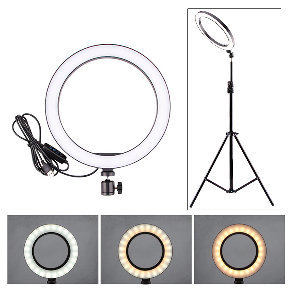 Light-Studio Mobile-Phone Live-Makeup for 160mm/260mm-Optional Selfie-Ring LED 5/12W