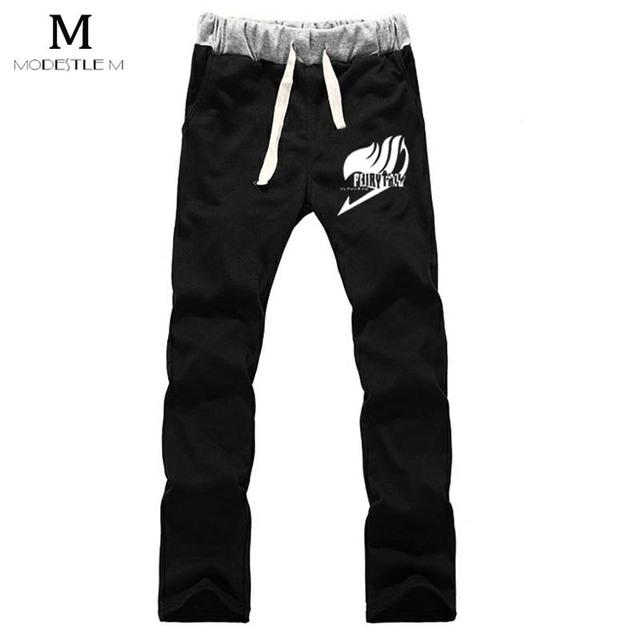 Fairy Tail Anime temporada hombres pantalón masculino de algodón Tapa ocasional menswear pantalones engrosamiento pantalones calientes de los hombres de largo KDFYTKDG4