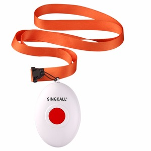 Image 5 - SINGCALL Wireless Nursing System, Medical Call Pager, Panic Button, Oval Rounded Shape Bell with the Necklace APE160