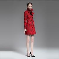 2017 Women S Autumn Winter Long Jacket Casual Fashion Women Plaid High Quality Female Khaki Red