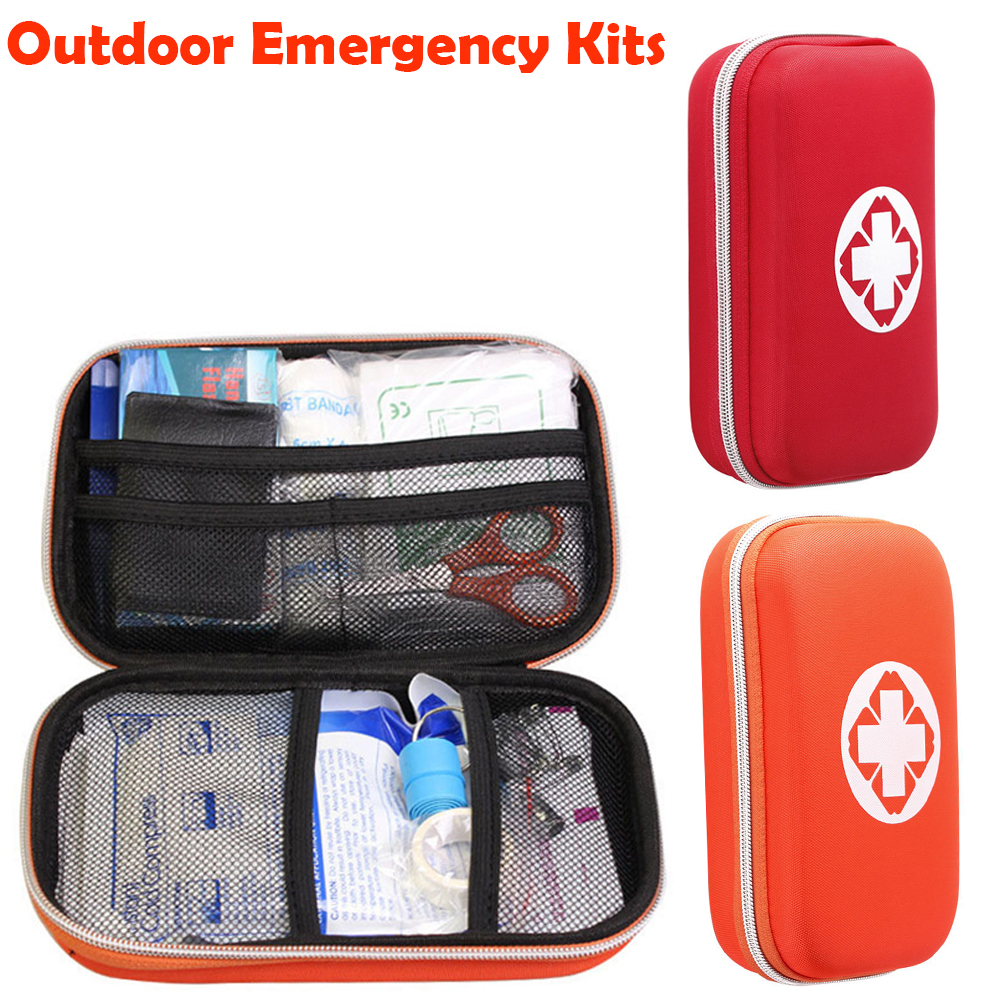 Emergency kits first aid kit outdoor survival travel hiking medical emergency treatment pack set EVA pouch bag 18 kinds/pack