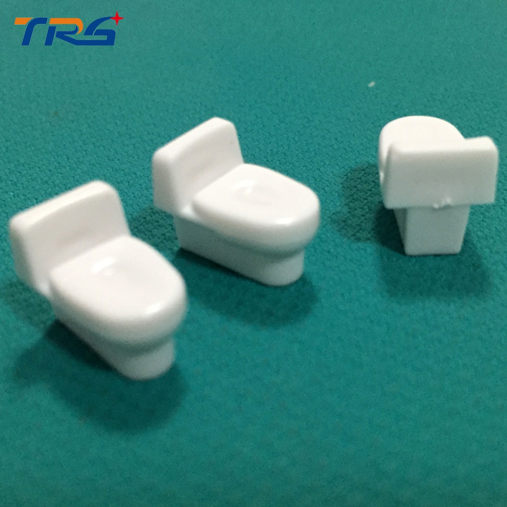 architecture Dollhouse Bathroom Furniture DIY Model Scale 1:20 White Closestool