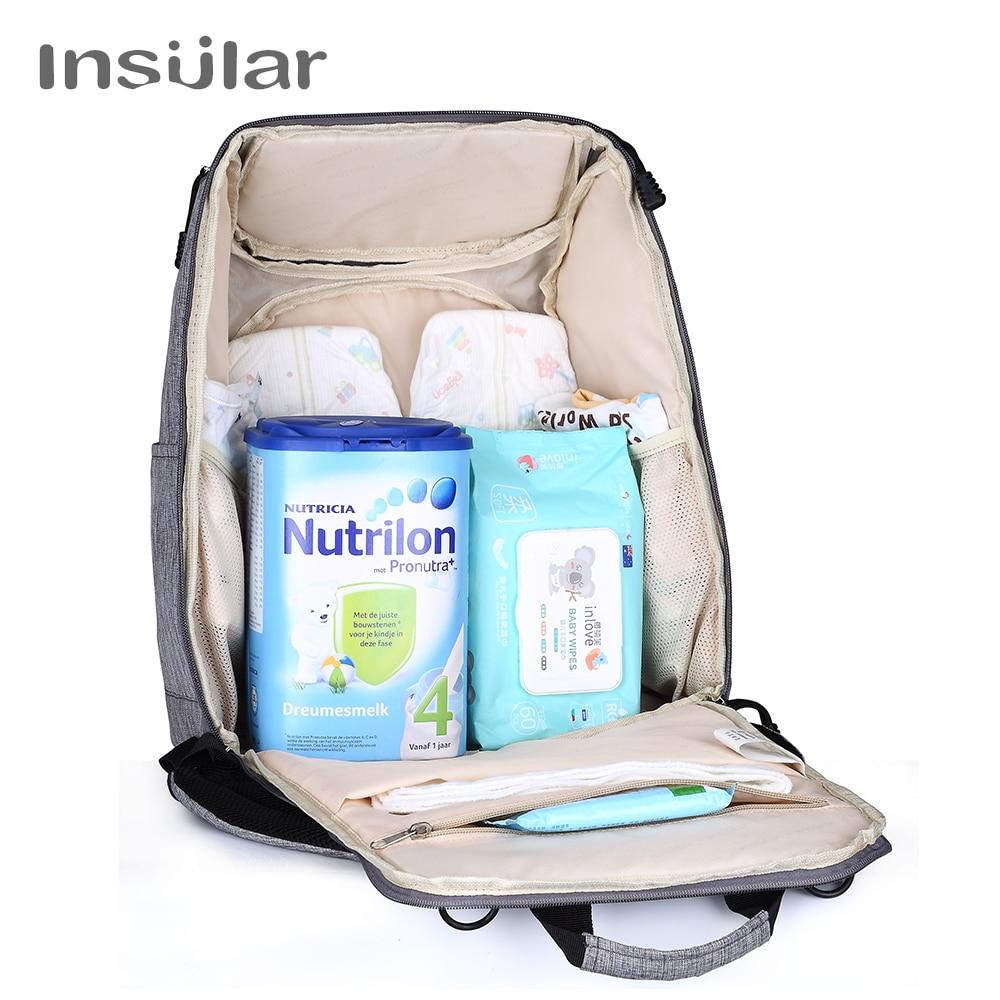 Bolsas de pañales de bebé insular Bolsas de cochecito de pañales - Pañales y entrenamiento para ir al baño - foto 3