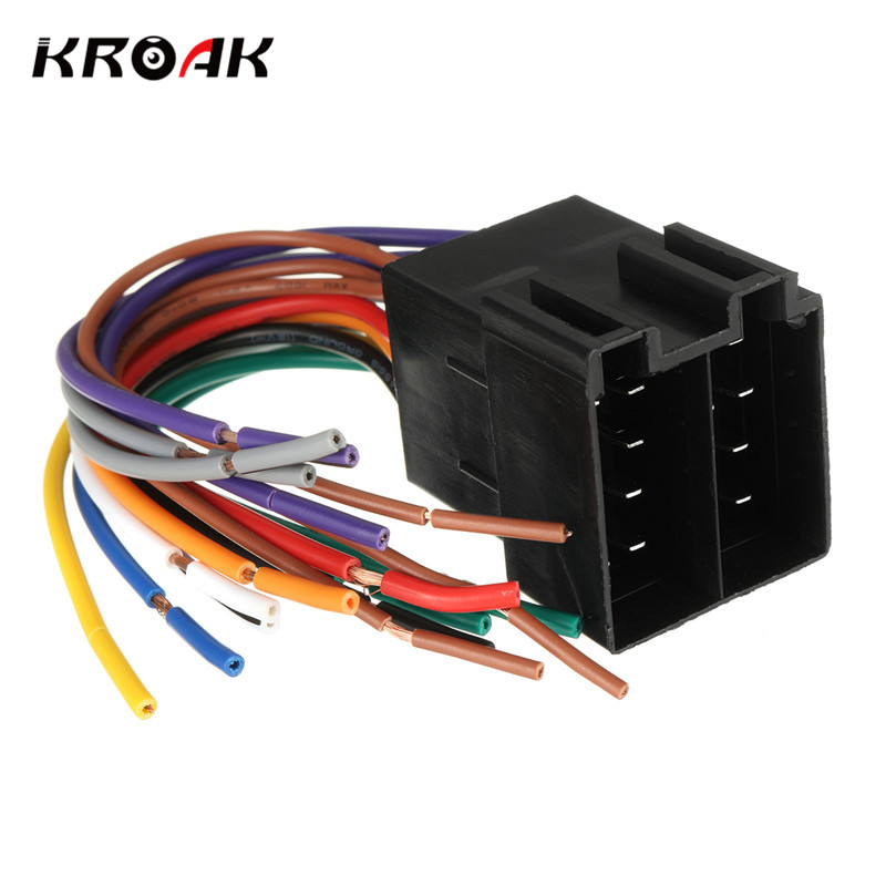 kroak car audio stereo cd dvd player wiring harness plug. Black Bedroom Furniture Sets. Home Design Ideas