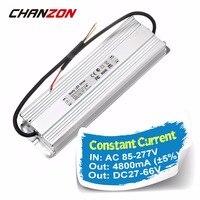 Светодиодный драйвер Выход 4800mA DC27 66V Вход AC 100 240 В 4.8A IP65 Водонепроницаемый адаптер Трансформаторы для Светодиодный свет лампы DIY