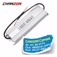 Светодио дный драйвер Выход 4800mA DC27 66V Вход AC 100 240 В 4.8A IP65 Водонепроницаемый адаптер Освещение трансформаторы для светодио дный свет лампы DIY