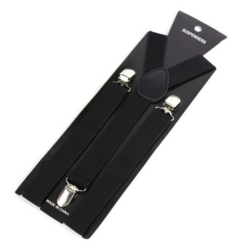 More Color For Choose New Mens Womens Unisex Clip-on Suspenders Elastic Y-Shape Adjustable Braces Colorful- 0055(China)
