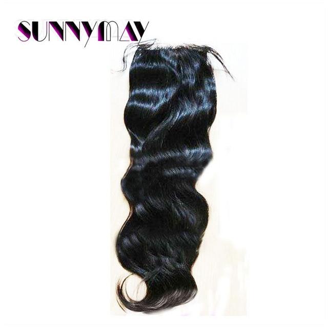 Sunnymay Hair 8A Grade 4x4 Natural Wave Natural Black Color Brazilian Virgin Human Hair Top Lace Closure Hair Pieces