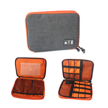 Travel Bag Storage Bag For Ipad organizer USB data cable earphone wire pen power bank  Digital Accessories