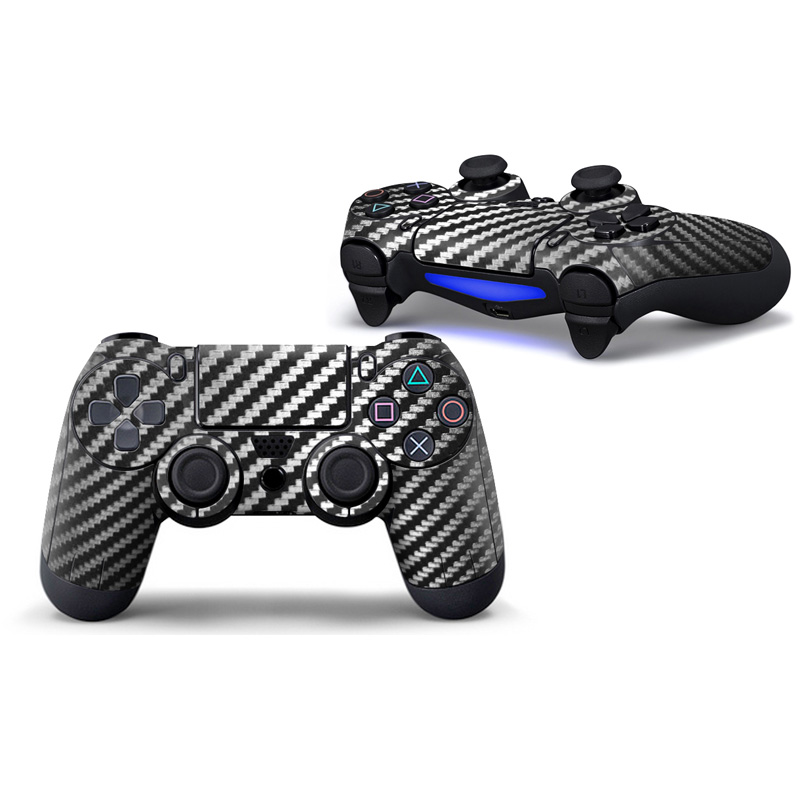 Professional Games Controller Stickers Carbon Fiber Skins Kit Tags for Playstation 4 PS4 Pro Game Play T-PS4-CT-0012