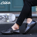 O16U Brand Men Casual Shoes Flats Genuine Cow Leather Lace up Male Moccains Driver Shoes Navy Black Brown Spring Big Plus Size