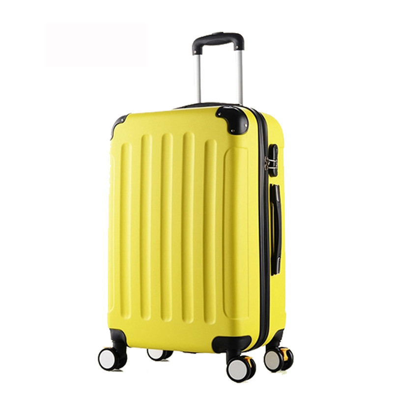 24 inch Classic striped patch Trolley suitcase/rolling spinner wheels Pull Rod luggage/Women Girl traveller case boarding bag 20 24 inches fashion classic day and night trolley suitcase luggage pull rod trunk traveller case box with spinner wheels
