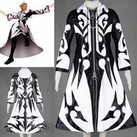 Организация XIII Kingdom Hearts 2 никто не Xemnas карнавальный костюм на Хэллоуин на осень зиму мужчин Искусственная кожа куртки на молнии