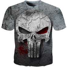 2019 3d Skull T Shirt Men 3d Full Print Tees Shirt Homme Punisher 3d T Shirt Fitness Compression Men T Shirt Plus Size hadar