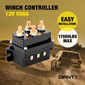 Giantz 12V Winch Controller Solenoid 500A DC Switch 4WD 4x4 Boat ATV Control Relay 17,000lbs Capacity Heavy Duty Upgrade