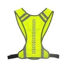 Светоотражающий защитный жилет для езды на велосипеде на открытом воздухе, жилет для езды на мотоцикле, жилет для ночного бега для мужчин и женщин, жилеты для бега