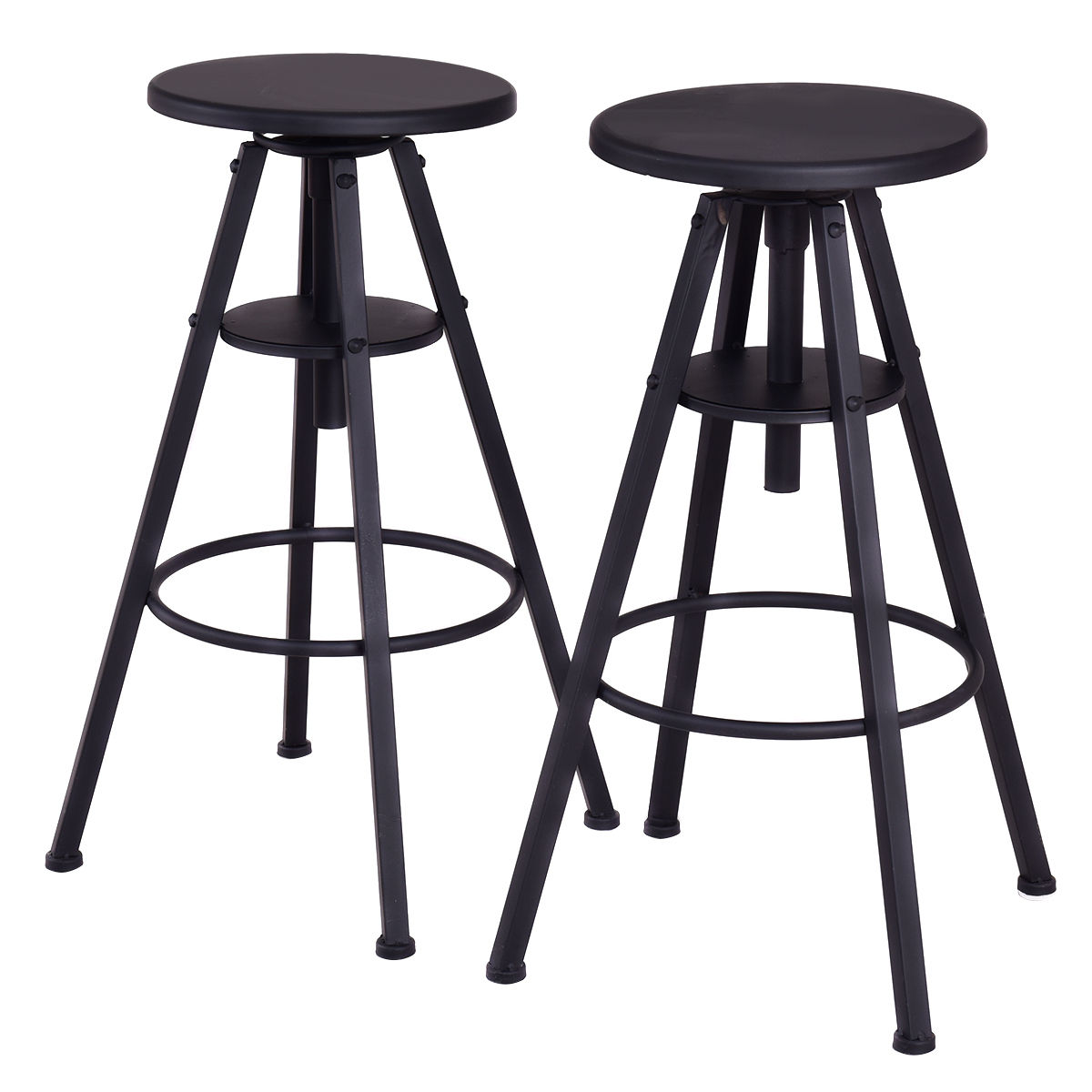 Aliexpress Giantex Set Of 2 Vintage Bar Stools Modern Height Adjule Metal Design Pub Chairs Simple Furniture Hw55117 From Reliable