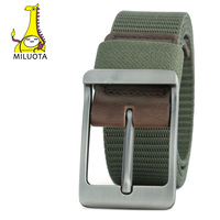 MILUOTA 2016 Military Equipment Men Belt Tactical Metal Buckle Thicken Canvas Belts Man Waistband MU038