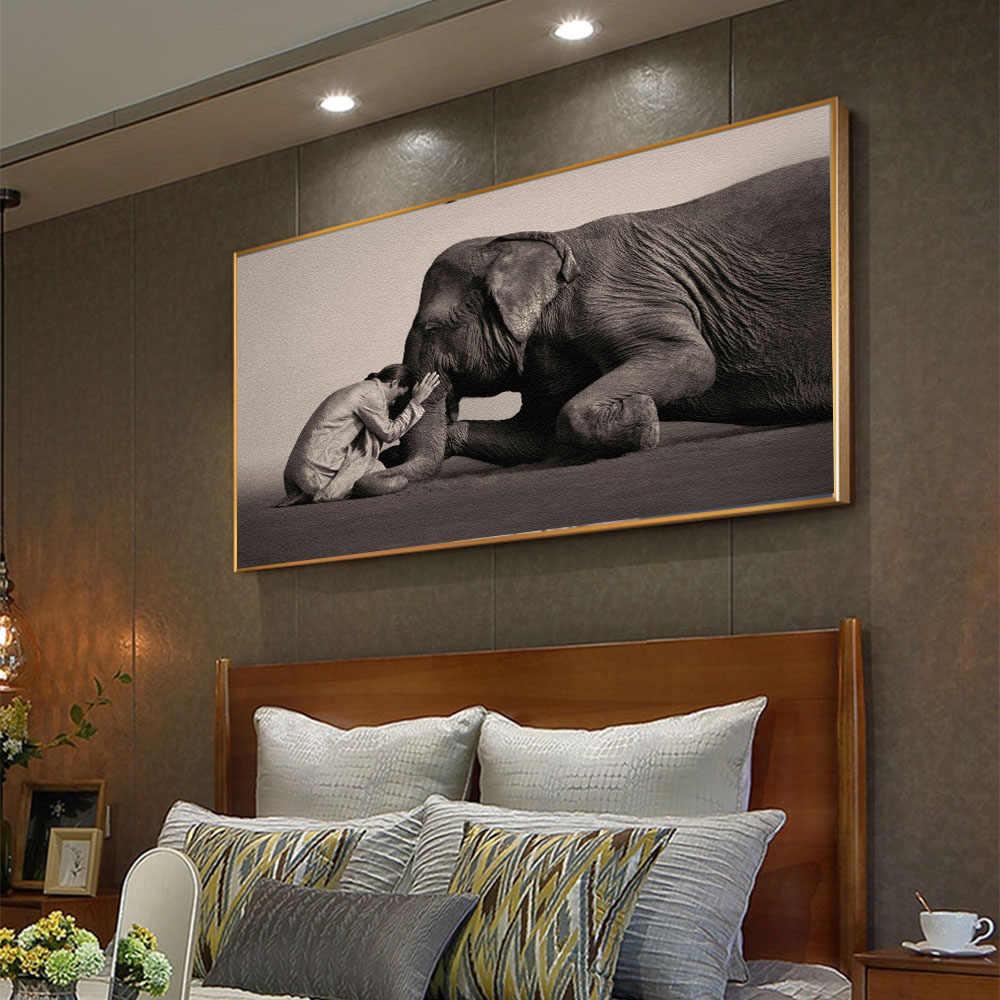 Buddha Modern Canvas Painting Nordic Poster Prints Zen Elephant