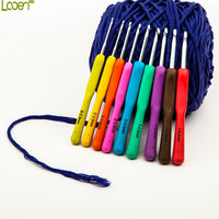 Looen Brand Hot Sale 1 set 9 Pcs Multicolour Crochet Hook Knitting Kit Needles Set Weave Craft Yarn Stitches Women Craft Tools