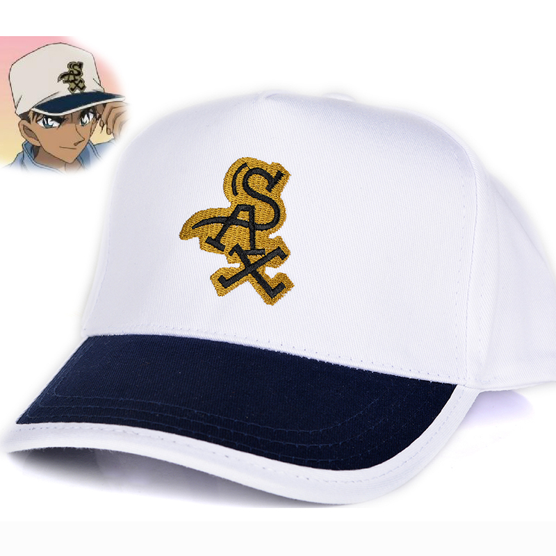 Japanese Anime Conan Heiji Hattori Cosplay Hat Adjustable Embroidery Canvas Baseball Cap