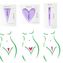 Sexy Hair Razor Women Private Hair Shaving Removal Lady Bikini Hair Epilator Heart Straight Triangle Shape Hair Removal