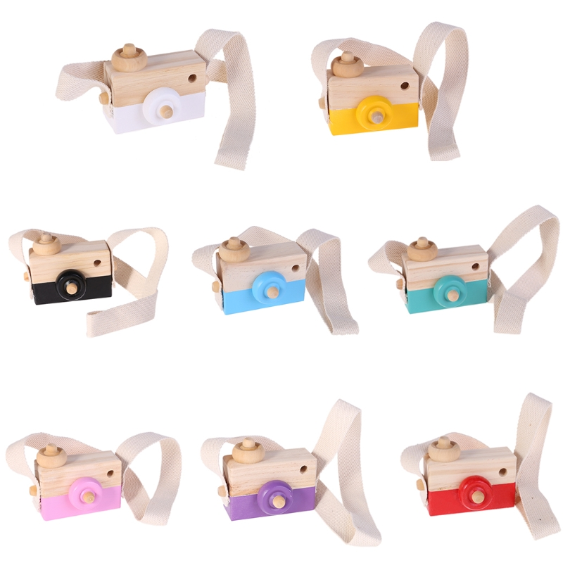 Wooden Toy Camera Kids Creative Neck Hanging Rope Toys Photography Prop Gift JU12 Drop Shipping