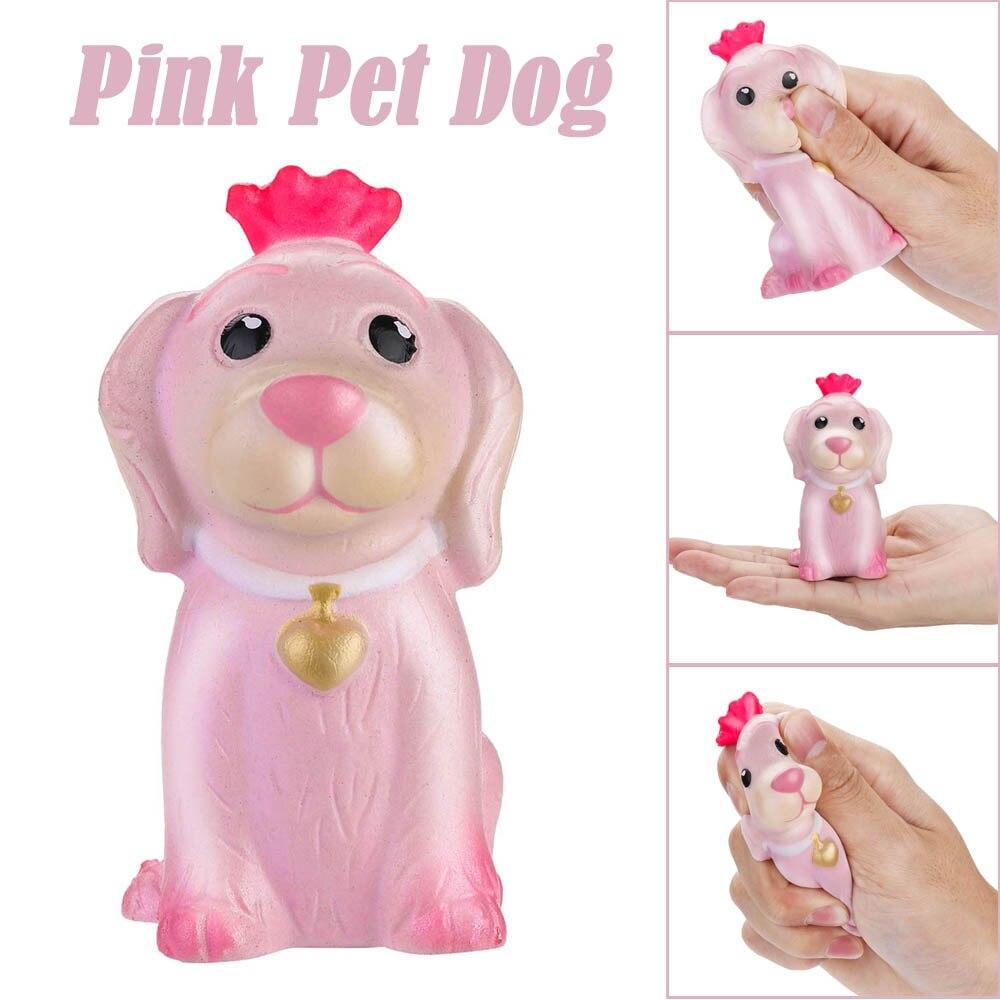 RüCksichtsvoll Squeeze Stress Reliever Rosa Haustier Hund Creme Duftenden Spielzeug Für Kinder Langsam Rising Spielzeug Geschenke Poopsie Schleim überraschung W522