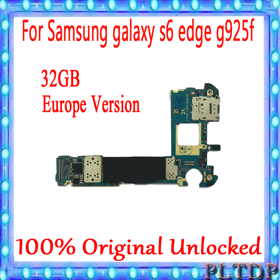 100% Original logic <font><b>board</b></font> unlocked for <font><b>Samsung</b></font> <font><b>Galaxy</b></font> <font><b>S6</b></font> edge G925F motherboard with full chips mainboard EU version image