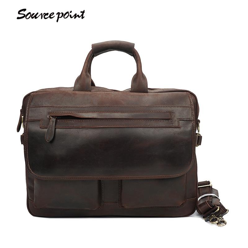4b2b20bbe74f YISHEN Crazy Horse из натуральной кожи плеча Crossbody сумки мужской Бизнес Портфели  сумки для ноутбуков модные