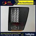 Luces traseras para jeep grand cherokee 2005-2010 led de cola trasera de la lámpara posterior del tronco cubierta de la lámpara drl + señal + freno + reversa