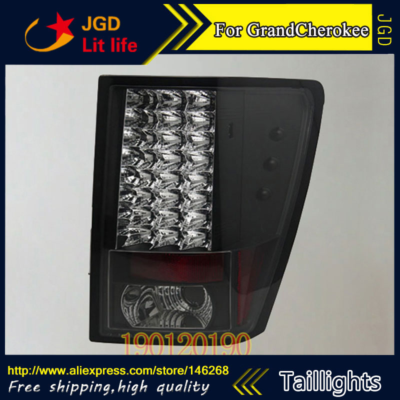 tail lights for Jeep Grand Cherokee 2005-2010 LED taillight Tail Lamp rear trunk lamp cover drl+signal+brake+reverse