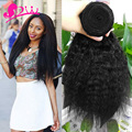 3 Bundle Deals Virgin Kinky Straight Hair Weave Bundle Brazilian Coarse Yaki Human Hair Unprocessed Kinky Straight Hair Bundles
