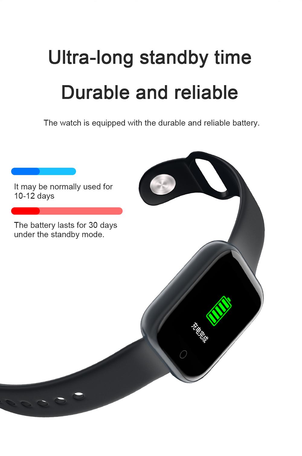 Reloj inteligente impermeable T80 Bluetooth 11