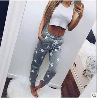 Apprehensive 2018 Autumn Fashion Women Casual Sporting Trousers Elastic Waist Drawstring Pockets Casual Sportswear Loose Pants Trousers