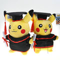 2PCS/SET Peluche Poke mon Pikachu Cosplay Stuffed Dolls Cute Rilakkuma Graduation Toy Gift Plush Toys