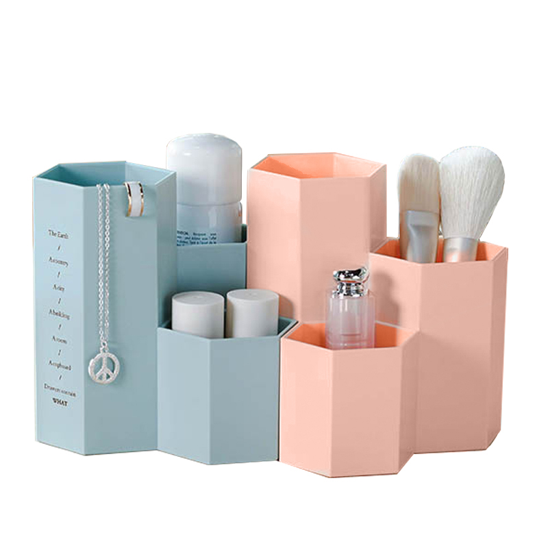 Office Organizer Box Makeup Cosmetic Holder Make Up Tools Storage Boxes Brush Case Jewelry Display Rack