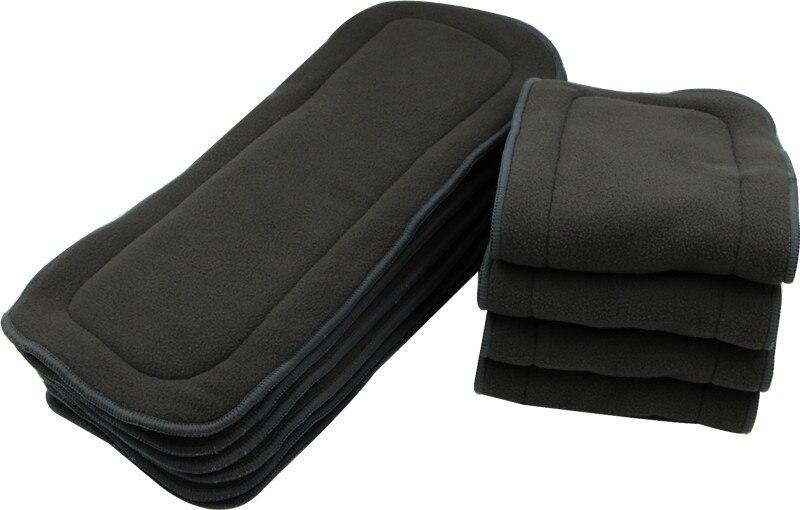 5 lager Baby Tvättbara Återanvändbara Verkliga bambu starka absorberande blöjor och insatser Boosters Liners För Real Pocket Cloth Nappy NB018