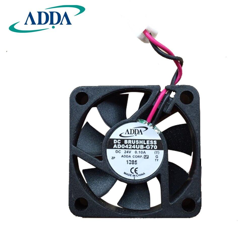 ADDA D'origine AD0424UB-G70 DC 24 V 0.1A 4010 40*40*10mm 2 Fils 6800 RPM Double Balle portant Ventilateur De Refroidissement