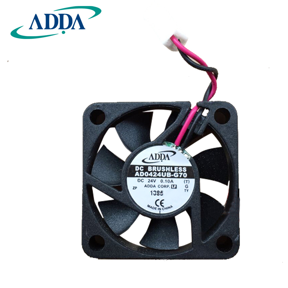 ADDA Original AD0424UB-G70 DC 24V 0.1A 4010 40*40*10mm 2 Wires 6800RPM Double Ball Bearing Cooling Fan tg17055ha2bl ac 220v 0 3a 46w 50 60hz 3100rpm double ball bearing 17255 17cm 172 150 55mm 2 wires silent cooling fan