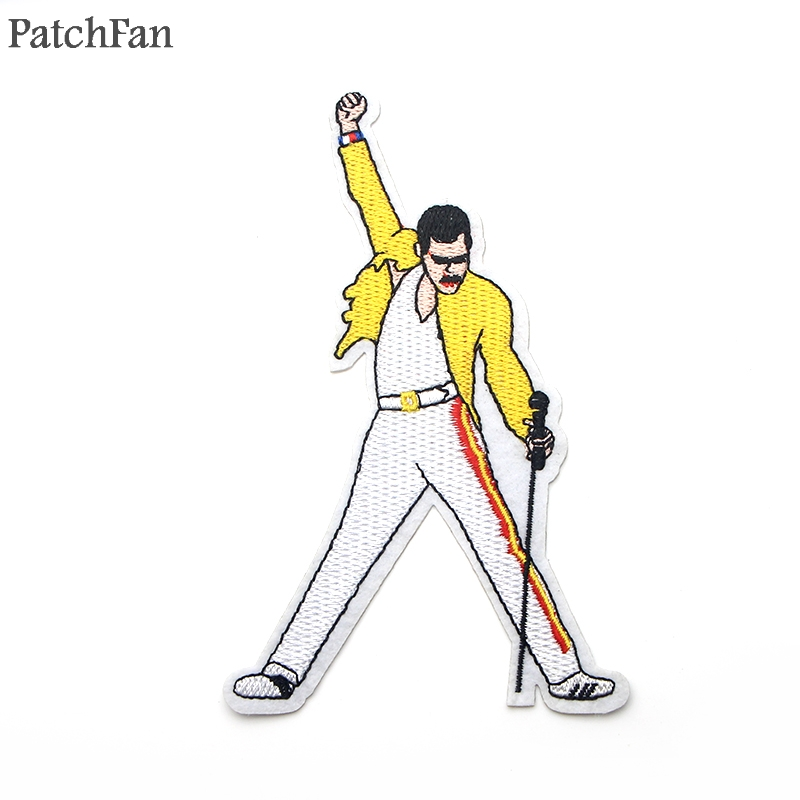 Patchfan Clothing Sticker Shoes Badge Jersey Appliques Freddie Mercury Iron On Embroidered title=