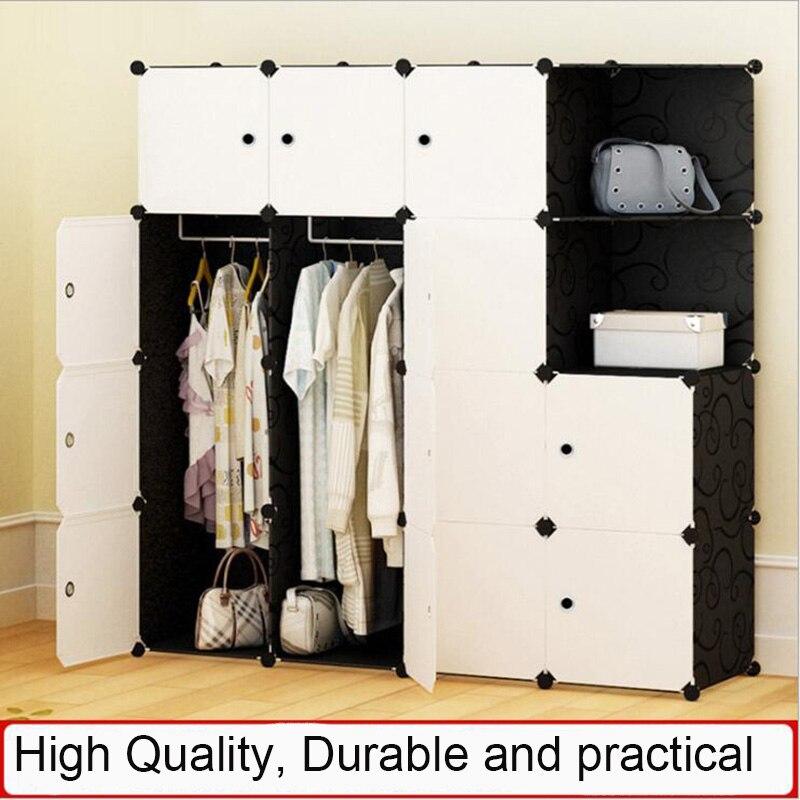 2019 vêtements stockage meubles armoire bricolage Non-tissé pli Portable armoire de rangement chambre meubles garde-robe chambre organisateur