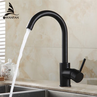 Free Shipping 360 Degree Rotating Copper Black Kitchen Faucet Hot And Cold Water Vegetables Basin Sink
