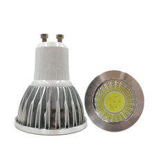 10Pcs COB GU10 3W 5W 7W dimmable LED Bulb SpotLight AC85-265V GU 10 spotlight COB led Cool White / Warm White COB Lighting(China)