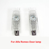 2Pcs Ghost Shadow Light Welcome Lamp Logo Laser Projector Door Warning Light For Alfa Romeo Giulia Stelvio 2017 2018