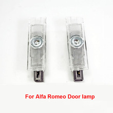 2Pcs Ghost Shadow Light Welcome Lamp Logo Laser Projector Door Warning Light For Alfa Romeo Giulia