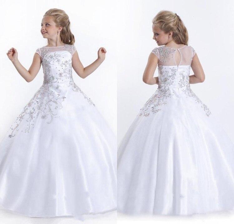 Самая высокая девочка красоты платье Vestidos де Comunion бисероплетение платье атласная страна свадебные фрейлина